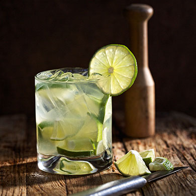 The national cocktail of Brazil, the Caipirinha, is made with Cachaça, ice, limes and sugar – and best served on the beaches of Brazil! Fogo de Chão imports its private label cachaça directly from Brazil; the traditional Caipirinha remains one of the restaurant's most popular beverages.