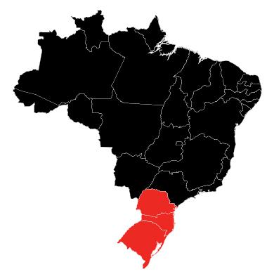 Paraná, Rio Grande do Sul, and Santa Catarina